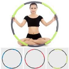 Hoola Hoops Fitness Sport Bauchtrainer 8 Segmente Hula Hoop Reifen zerlegbar NEW