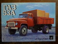 GAZ 53a TRUCK ORIG 1970s RUSSO BROCHURE DI VENDITA IN LINGUA INGLESE-ta3 AUTOEXPORT USSR