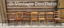 Mix & Match Unpainted Kitchen Farmhouse Wooden Chairs- Painting Projects