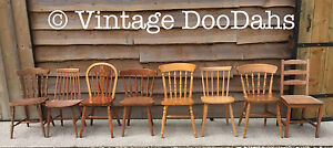 Mix & Match Unpainted Kitchen Dining Farmhouse Wooden Chairs- Varied Selection
