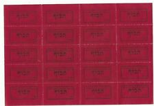 BLOCK OF 20 ITEMS frequent Immigration Department of the Jewish Agency to ISRAEL