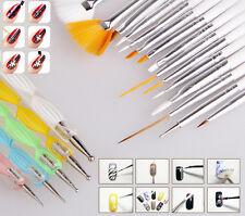New 20pcs Nail Art Care Design Set Dotting Painting Polish Brush Pen Tools Kits