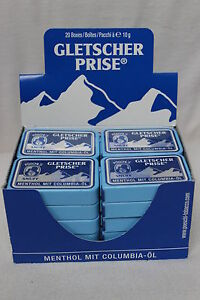 60 X 10 g Gletscherprise Snuff Schnupftabak Frisch und OVP Kostenloser Versand