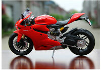 1:12 Red Diecast Motorcycle Ducati 1199 Panigale Motor Bike Model Toy Kids Gift