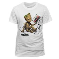 Camisetas de hombre de manga corta LA color principal blanco