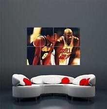 Kobe Bryant Vs Michael Jordan gigante arte cartel impresión WA412