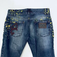 Authentic Dolce & Gabbana Mens Painting Jeans Pants Size 48 Excellent Conditions