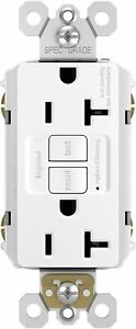 Legrand Pass & Seymour radiant 2097WCCD12 20 Amp Self-Test GFCI Safety Outlet