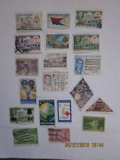 A Lot of 20 VINTAGE: PHILIPPINES Pictorials Stamps all cancelled except maybe 2