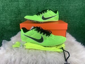 New Nike Zoom Victory Elite Lime Neon Green Track Field Spikes 835998 300 Sz 11
