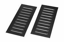 Off Road 4x4 Mild Steel 10 Fin PAIR of Cooling Louvers - OBPLOS1