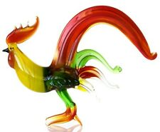 "Rooster Red, Figurine, Blown Glass ""Murano"" Art Sculpture. Made in Russia"