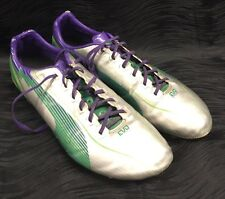 PUMA Mens Soccer Cleats evoSPEED Silver Green Violet Size 10.5