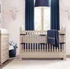 $198 Restoration Hardware Baby & Child Cotton Canvas Drapery Panel Set of 2 Blue