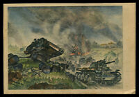 WW2 WWII Germany 3rd Reich Postcard German Hitler Era Army Panzer Tanks Feldpost