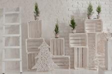 10x8FT Vinyl Brick Wall Xmas White Decor Fir Tree Box Studio Backdrop Background