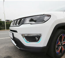 ABS Chrome Front Fog Light Lamp Trim For Jeep Compass 2nd Gen 2017-2018