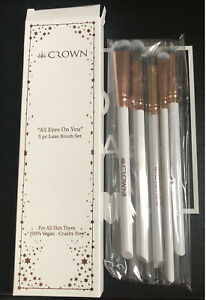 CROWN BRUSH All Eyes On You 5-Piece Luxe Brush Set. Deluxe Eyeshadow Brushes NIB