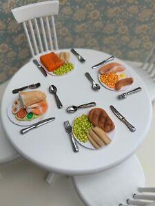 Dolls House Emporium furniture - Dinner for 4 please - Beautiful dinner setting