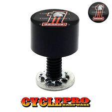 Vivid Black Billet Hex Thumb Screw Seat Bolt for 99-16 Touring TATTOO GIRL R