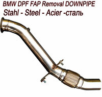 DOWNPIPE FAP DPF OFF REMOVAL BMW 3er E90 318D 136 BHP MOTOR N47D20 T8A