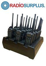 18x Motorola Xpr6550 Uhf Full Radio In 18 Way Charger Unit Aah55qdh9la1an