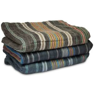 Individual Hand Woven Blanket Throw from Ecuador Amazing Colours Large King Size