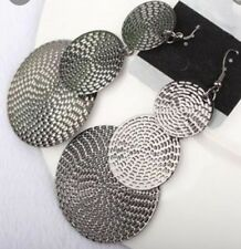 Earring Boho Festival Party Boutique Uk Silver Large Aztec Round Luxury Fashion