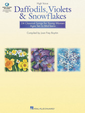 Daffodils, Violets and Snowflakes--High Voice MUSIC BOOK-WOMEN-VOCAL-NEW ON SALE