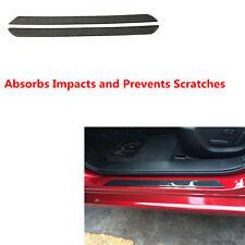2pcs  Waterproof Carbon Fiber Door Sill Scuff  Plates Protectors for Car Truck