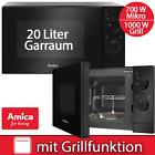 Mikrowelle Grill 1000W 20 Liter Timer Kombi 700 Watt Mikro Amica schwarz Stand  <br/> 20 Liter Garraum | 5 Leistungsstufen | Auftaufunktion