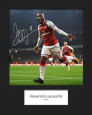 ALEXANDRE LACAZETTE #1 - ARSENAL Signed 10x8 Mounted Print - FREE DELIVERY