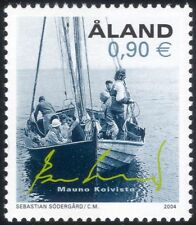 Aland 2004 Longboat/Sailing/Sail/Ferry/Boats/Nautical/Transport 1v (af1002)