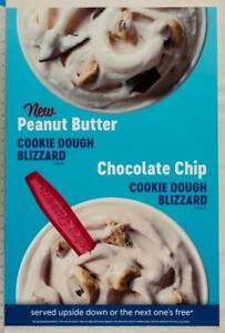 Dairy Queen Poster Backlit Plastic Cookie Dough Blizzard 17x25 dq2
