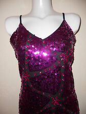 NEW  SEQUIN DRESS FUCHSIA BODYCON KNEE SEXY DRESSES PARTY NIGHT WEDDING EVENNING