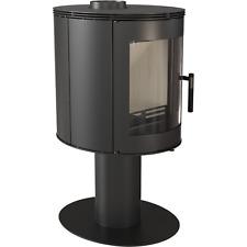Kaminofen kratki ORBIT 7 kW schwarz Zylinder Holzofen auf Standfuß
