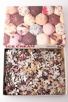 Vintage Jigsaw Puzzle Ice Cream Over 550 Pieces 18''x 24'' Cardboard Made in USA
