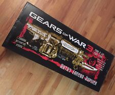 RARE Gears of War 3 Gold Prop electronic Retro Lancer - BRAND NEW! Free Shipping