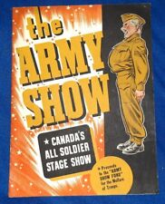 THE ARMY SHOW CANADA'S ALL SOLDIER STAGE SHOW 1943 CBC Wayne Shuster PROGRAM