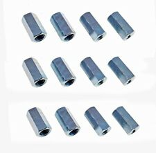 "12 Pack 1/2-13 to 3/8-16 x 1 1/2"" Long Reducer Coupling Nut - Zinc Plate 509900"
