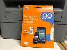 AT&T Go phone Sim Card 4G LTE Bring your Own Phone or Tablet. NEW.
