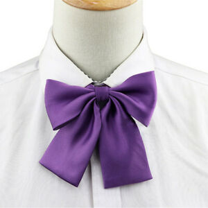 Uniform Vintage School Costume Ribbon Bowtie Neck Ties Satin Cravat Bow Tie
