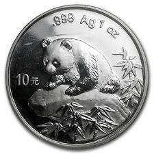 1999 China 1 oz Silver Panda Small Date BU (Sealed) - SKU #10179