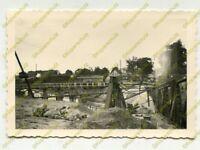Foto, durch Polen gesprengte Brücke in Bromberg, Bydgoszcz, Polen, c (N)19648