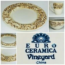 "Vintage ""EURO CERAMICA VINEYARD"" Dinnerware Collection"