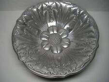 """WILTON RWP PEWTER HOLLOWARE ACANTHUS SUNFLOWER BOWL 12"""" DISCONTINUED"""