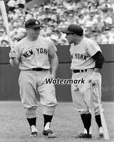 MLB 1959 Mickey Mantle & Yogi Berra New tork Yankees 8 X 10 Photo Picture