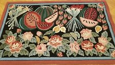 3 x 5 Multi Color Hooked rug Wool