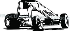 Sprint Car Midget  chasis wheels tires STICKER DECAL WINDOW GRAPHIC