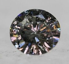 Cert 0.46 Carat Fancy Grey Silver SI2 Round Brilliant Natural Diamond 5.3mm  #96